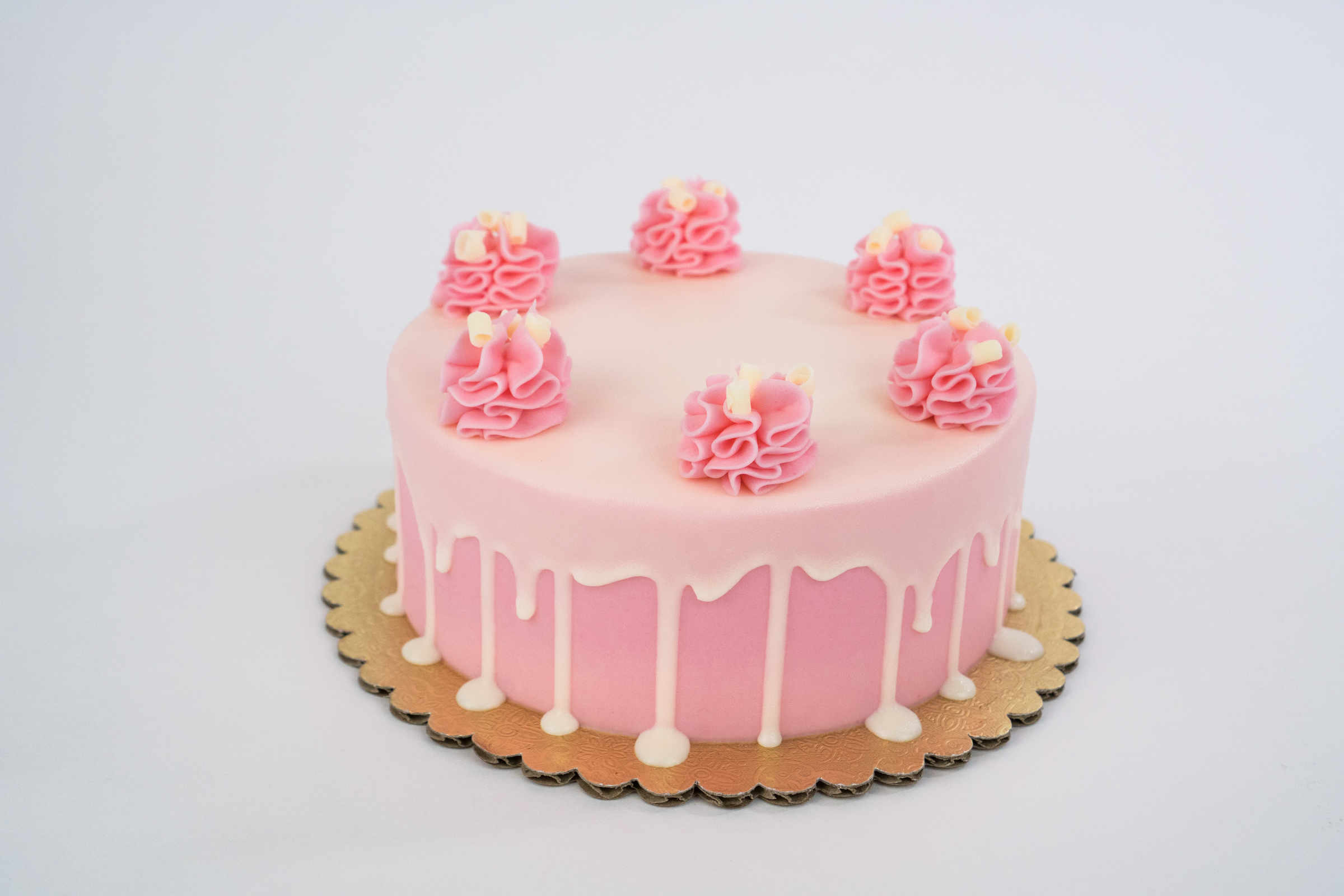 Pretty In Pink Champagne Cake